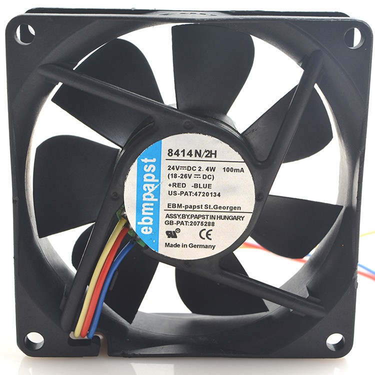 Ebmpapst  TYP 8414 N/2H 24V 2.4W 8cm 8025 3Pin cooling fan