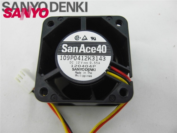 SANYO 109P0412K3143 winds of 12V axial fan