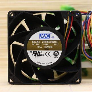 AVC 2B08038B48U DC48V 0.58A 8cm 4-line PWM dual ball cooling fan