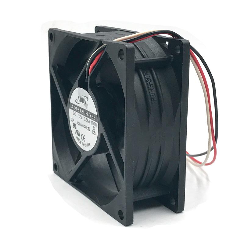 ADDA AD0812UB-Y53  8cm DC12V 0.38A 3-wires  case blower inverter cooling fan