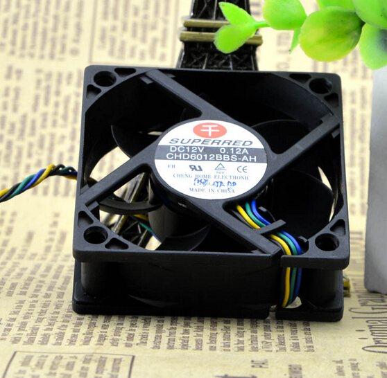 CHD6012BBS-AH 12V 0.12A 6CM 60*60*20 PWM CPU four line temperature control fan