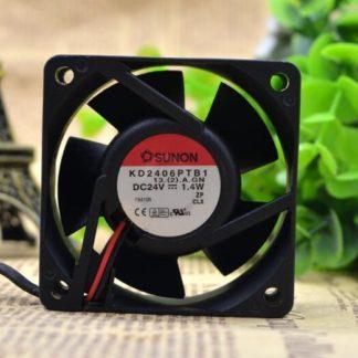 SUNON KD2406PTB1 DC24V 1.4W 2-wire inverter server Cooling fan