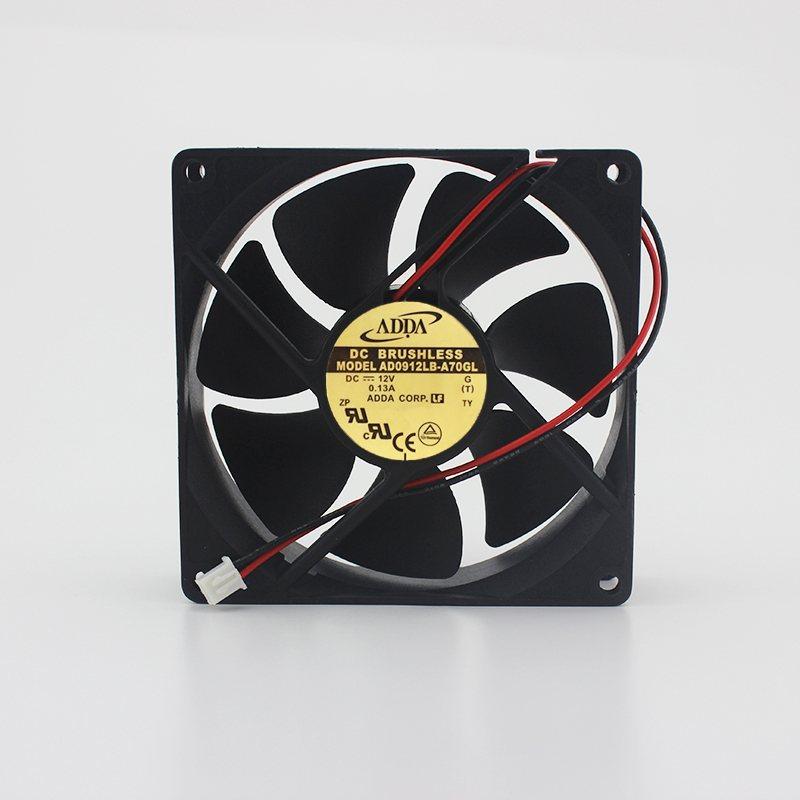 ADDA AD0912LB-A70GL DC12V 0.13A silent dual ball bearing chassis fan