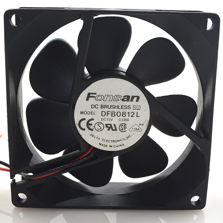 Fonsan DFB0812L 12V 0.08A 8CM 2-wire cooling fan