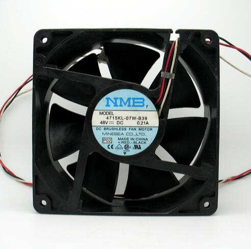 NMB 4715KL-07W-B39 48V 0.21A 120*120*38 three wire inverter fan