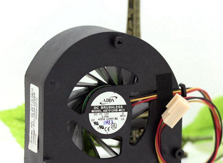 ADDA  AB7012HB-MC3 7CM 12V 0.30A dual ball turbo fan