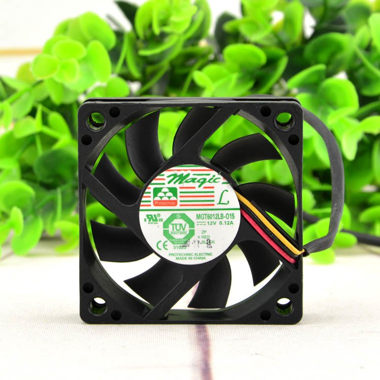 Magic MGT6012LB-015 0.12A 12v three-wire speed silent cooling fan