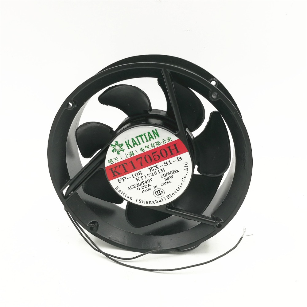 KT17050H 38W 0.22A 110V/220V/380V industrial  ball bearing cooling axial flow fan