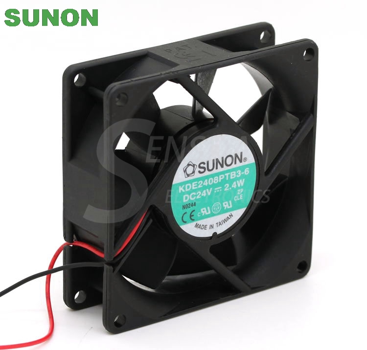 SUNON KDE2408PTB3-6 80mm  DC24V 2.4W server inverter axial cooling fan