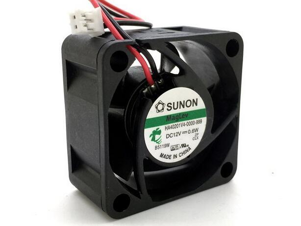 SUNON HA401V4-0000-999 DC12V 0.6W 40*40*mm 2-line Cooling Fan
