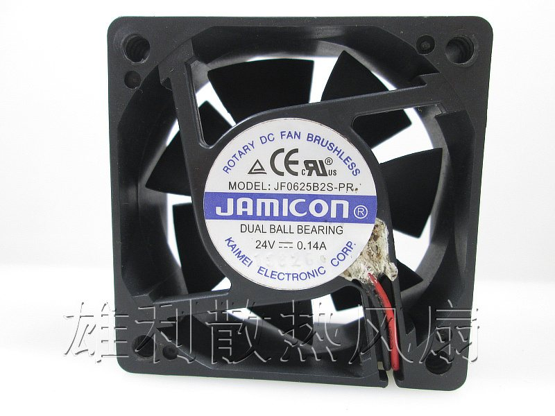 JAMICON JF0625B2S-PR 24V 0.14A 60*60*25MM inverter cooling fan