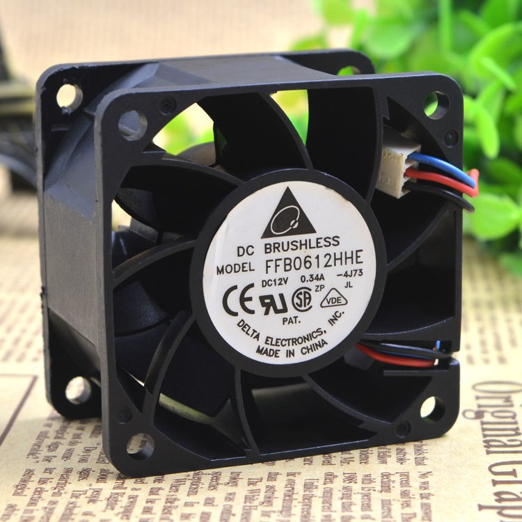 Delta FFB0612HHE 6cm 12v 0.34A double ball bearing cooling fans