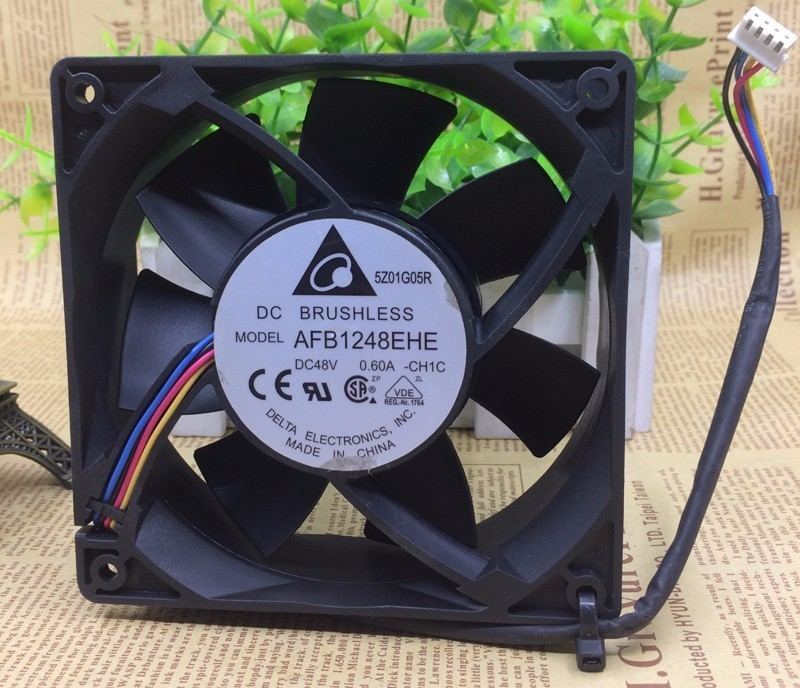 Delta AFB1248EHE 12038 12CM DC 48V 0.6A PWM speed control wind capacity Cooling fan