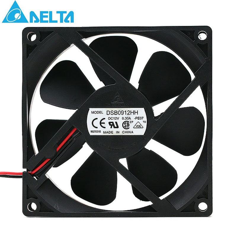Delta DSB0912HH DC12V 0.30A 2-pin 92*92*25mm Server Square axial cooling fan