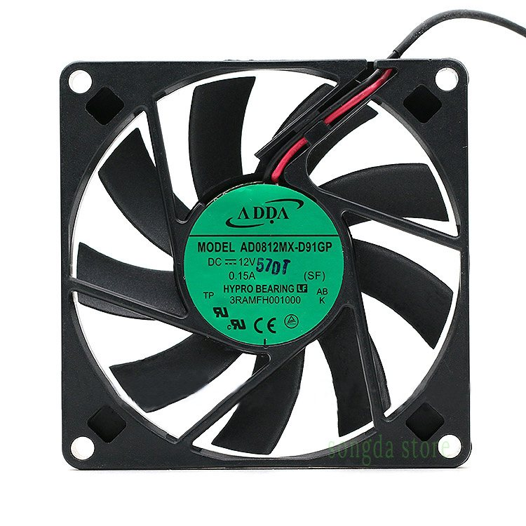 ADDA AD0812MX-D91GP DC12V 0.15A 2-wire cooling Fan