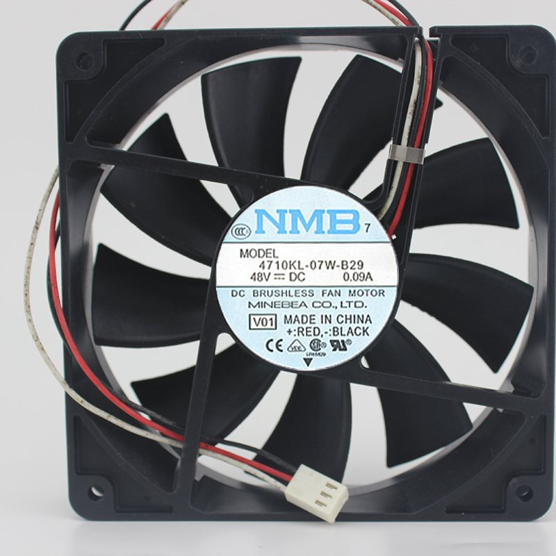 NMB 4710KL-07W-B29 48V 0.09A 120 * 120 * 25MM  cooling fan