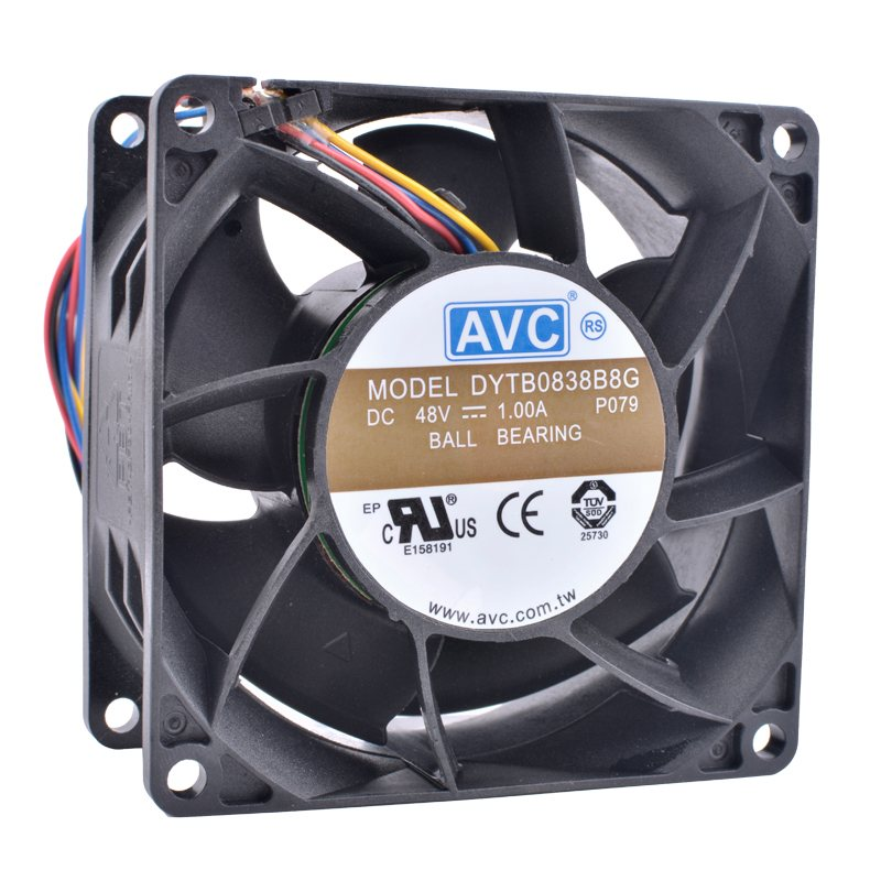 AVC DYTB0838B8G DC48V 1.00A Double ball bearing 4-wire server cooling fan