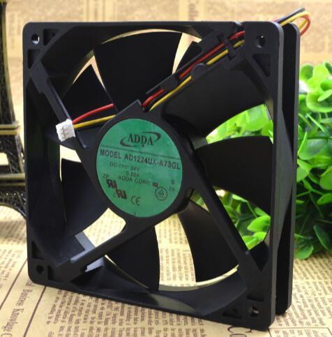 ADDA AD1224UX-A73GL 24V 0.25A 12CM 3wire inverter fan