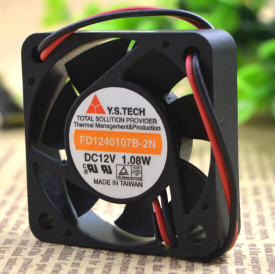 Y.S.TECH FD1240107B-2N authentic 4CM 40*40*10 1.08W 2 wire cooling fan