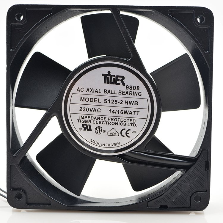 S125-2 HWB 230V 1.6W 12CM high temperature direct drive power supply fan
