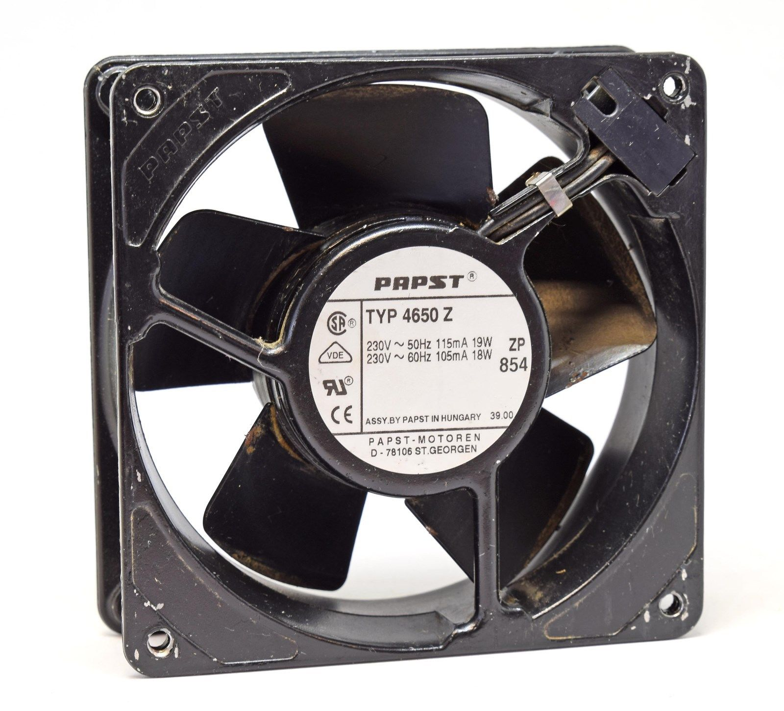 EBMPapst 4650Z  230VAC Box  Axial Fan