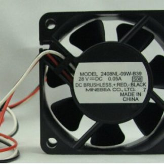 NMB  2408NL-09W-B39  DC28V 0.05A ball bearing cooling fan