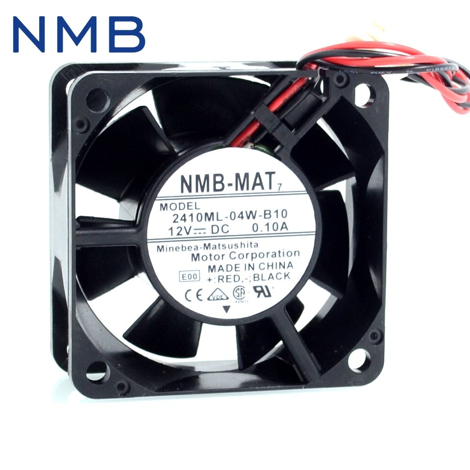 NMB-MAT7 2410ML-04W-B10 6CM 12V 0.10A dual ball bearing silent Cooling fan