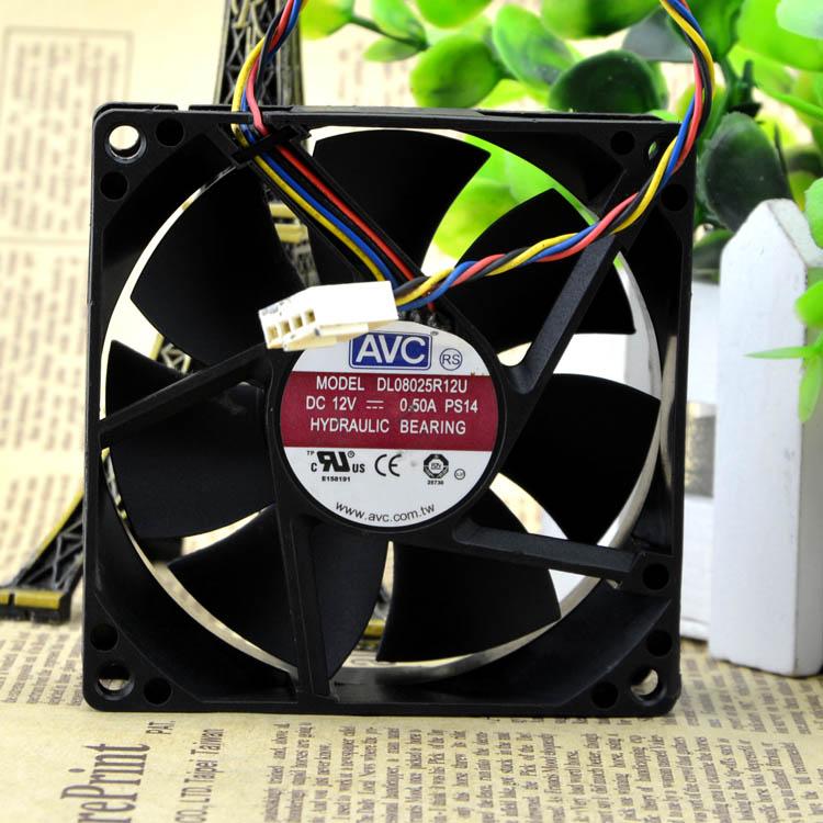 AVC DL08025R12U 12V 0.5A PWM Hydraulic Bearing cooling fan