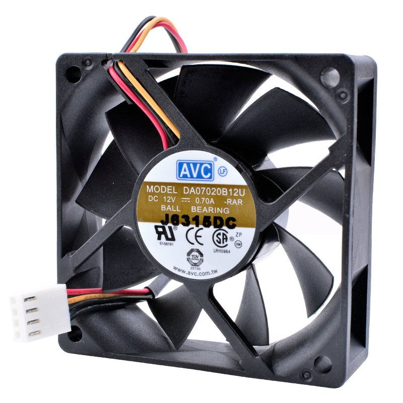 AVC DA070B12U 12V 0.70A Double ball bearing cooling fan