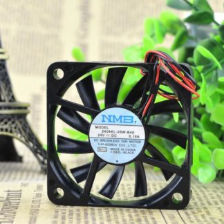 NMB 2404KL-05W-B40 24V 0.10A 6CM 2wire inverter chassis cooling fan