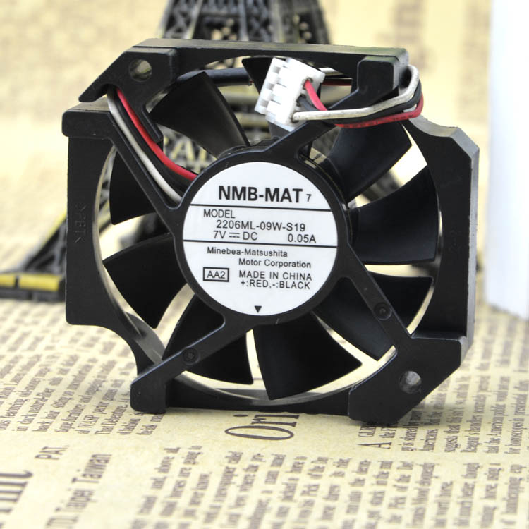 NMB 26ML-09W-S19 7V 0.05A 5.7CM 57*52MM silent  cooling fan
