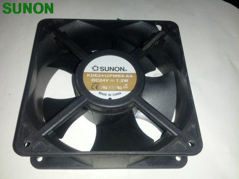 SUNON KDE2412PMBX-6A DC24V 7.2W 2-wire Server Square Fan