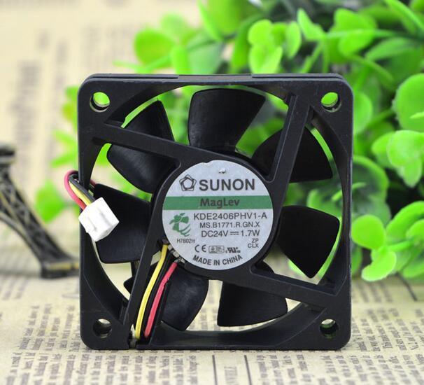 SUNON KDE2406PHV1-A DC 24V 1.7W  3-line Cooling fan