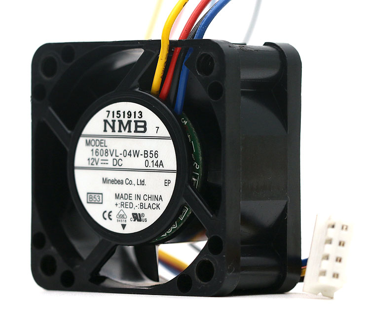 NMB 1608VL-04W-B56 12V 0.14A 9500RPM 11.3CFM axial cooling fan