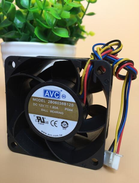 AVC 2B06038B12S 12V 1.80A 4-wire double ball fan