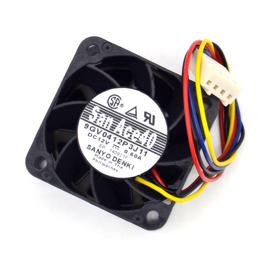 Sanyo 9GV0412P3J11 0.60A Gale PWM speed control air volume fan