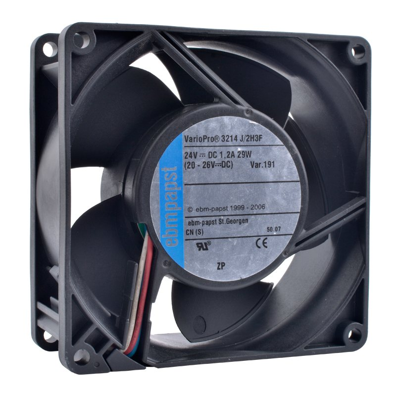 ebmpapst 3214J/2H3F 24V 29W Double ball bearing cooling fan