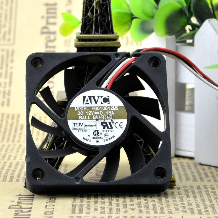 AVC F6010B12MS  60X60X10mm DC 12V 0.15A Dual Ball Bearing cooling fan