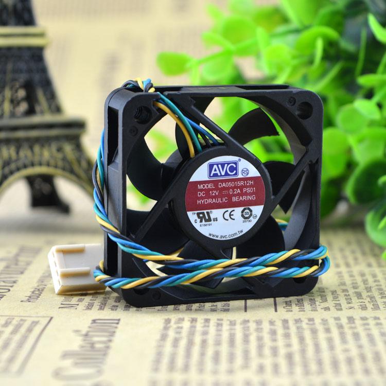 AVC DA0515R12H 12V 0.2A Gale volume 4 lines / PWM temperature control fan