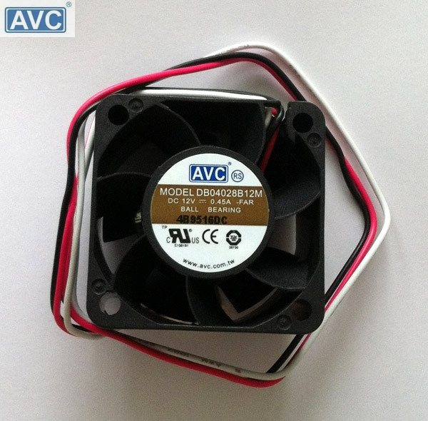AVC DB04028B12M -FAR  DC12V 0.45A 3-wire  Server Square Fan