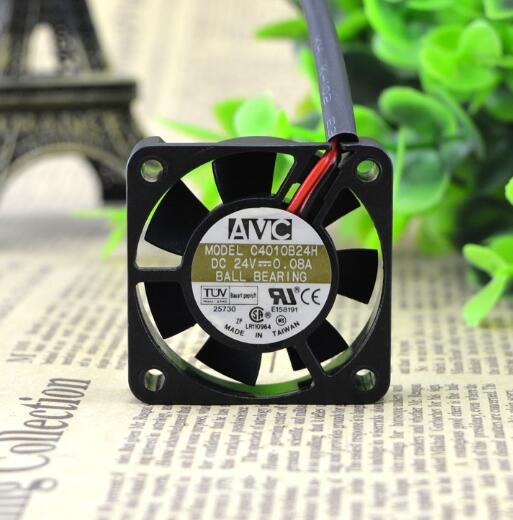 AVC C4010B24H DC24V 0.08A 4CM 2-wire double ball inverter cooling fan