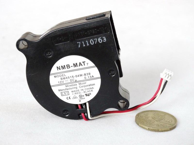 NMB BM4515-04W-B39 DC12V 0.13A ball bearing centrifugal cooling fan