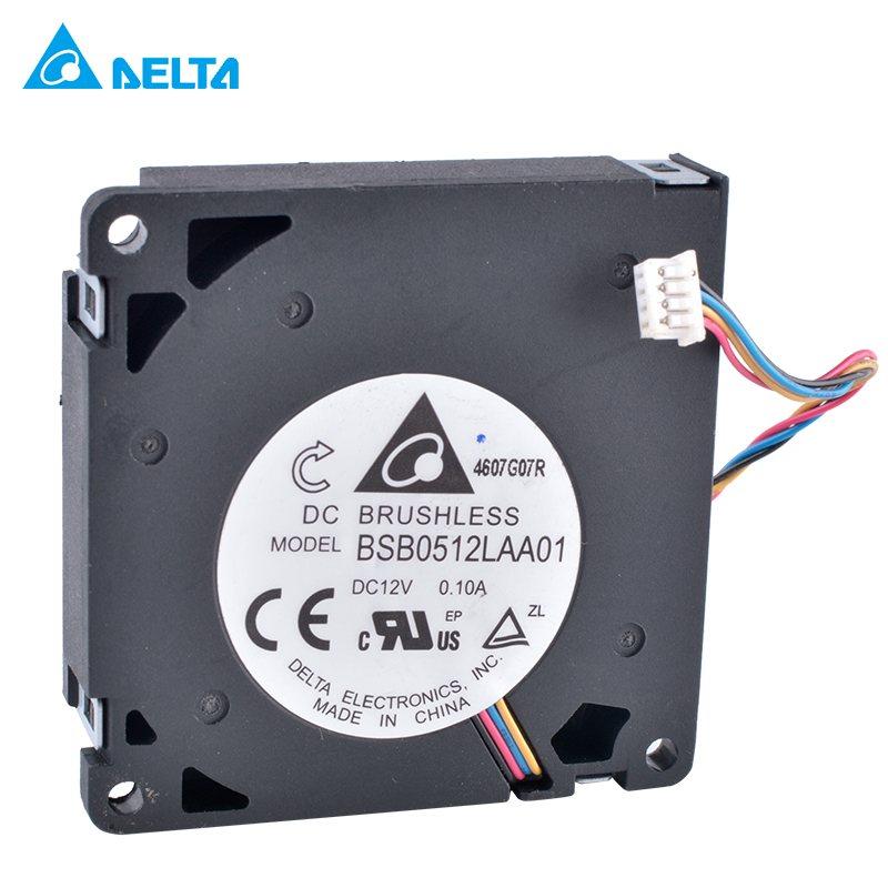 DELTA BSB0512LAA01 50x50x10mm 12V 0.10A Ultra-thin 4-wire centrifugal turbine blower cooling fan