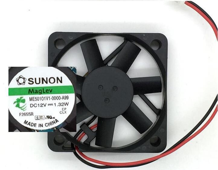 SUNON ME50101V1-0000-A99 12V 1.32W 5CM 2 lines cooling fan