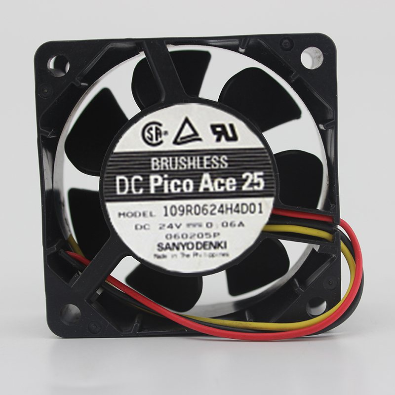 Sanyo 109R0624H4D01 6cm 24V 0.06A inverter cooling fan