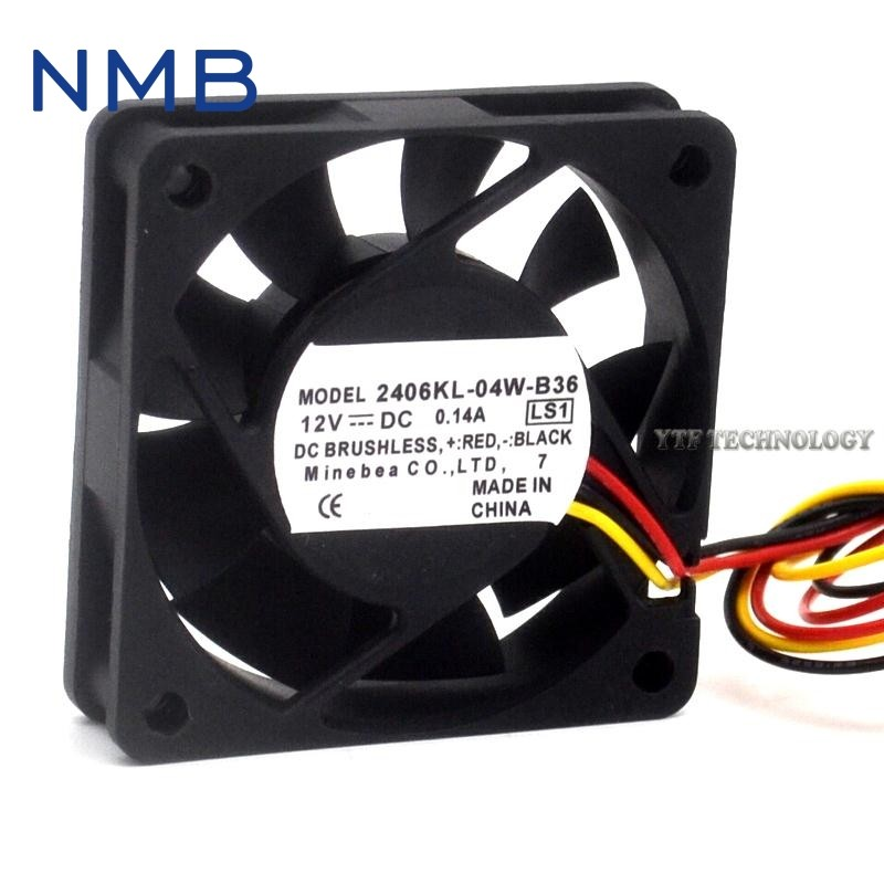 NMB 2406KL-04W-B36  12V 0.14A dual ball bearing cooling fan