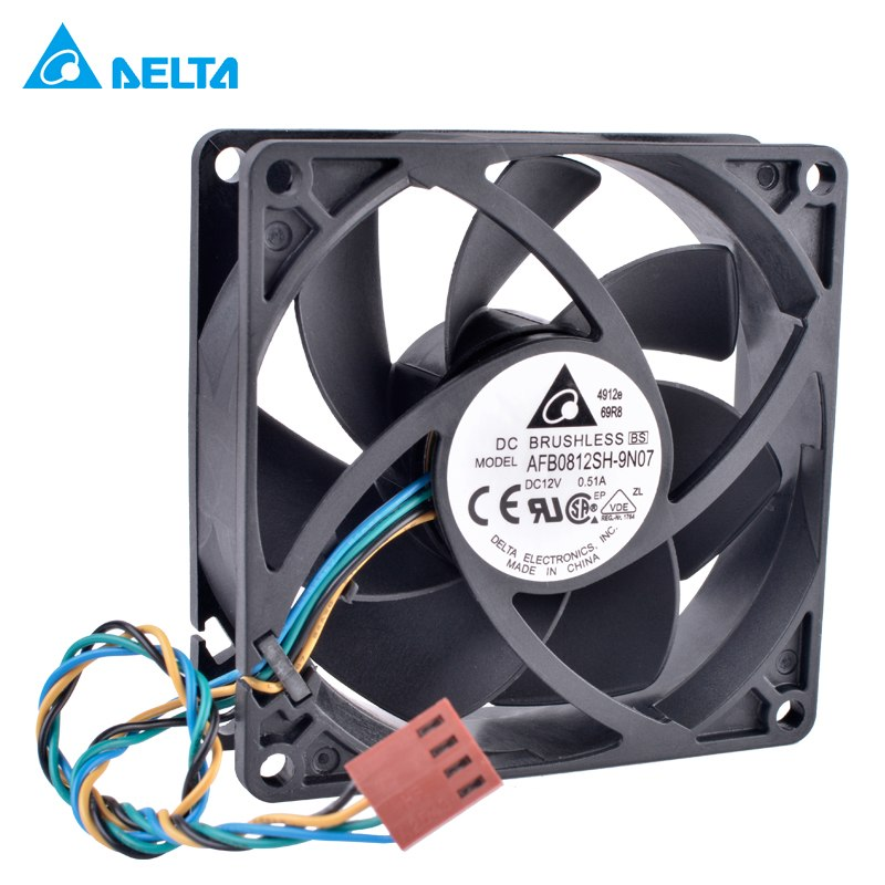 DELTA AFB0812SH-9N07 12V 0.51A PWM high volume air cooling fan