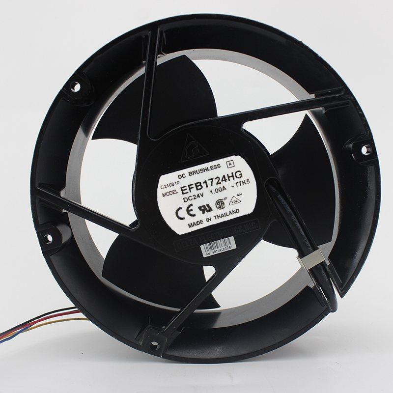 EFB1724HG 24V 1A  17CM 3 leaf double ball fan
