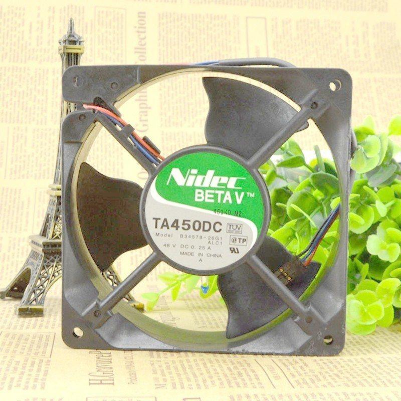 NIDEC  TA450DC B34578-26G1 48V 0.25A 3line 12CM axial fan