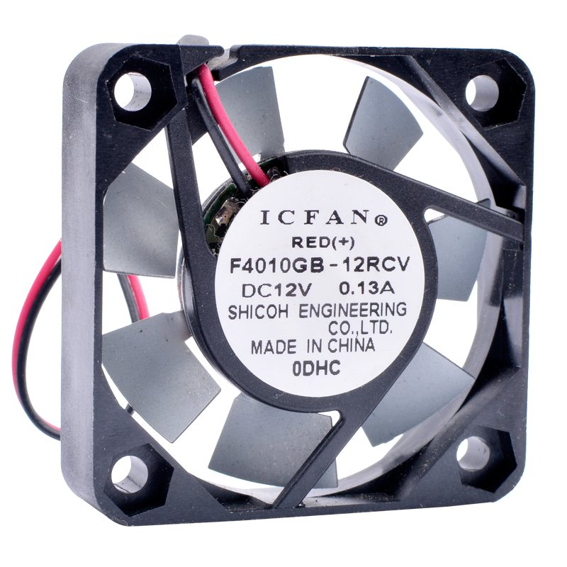 ICFAN F4010GB-12RCV DC12V 0.13A high temperature resistant cooling fan